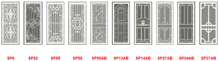 security screen door patterns for Adelaide homes